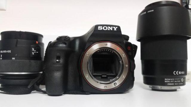 Sony SLT-A65V 24.3 MP with 4 Extra Lenses and
