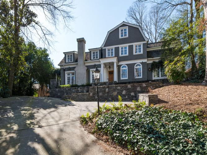 Sophisticated Hilltop Dutch Colonial For Sale In Atlanta