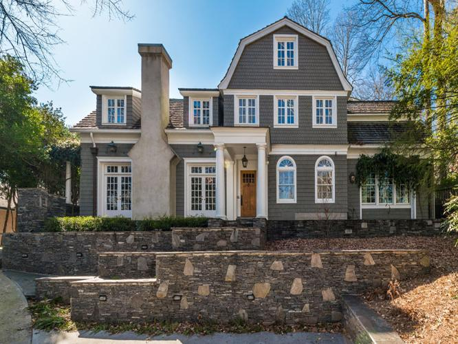 Sophisticated hilltop dutch colonial for sale in atlanta for Dutch colonial house for sale