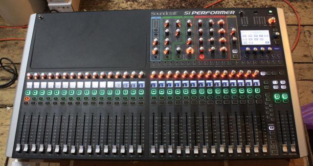 soundcraft si performer 3 32 channel digital audio mixer for sale in leadville colorado. Black Bedroom Furniture Sets. Home Design Ideas