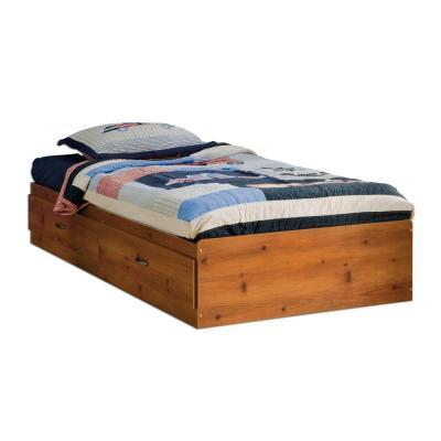 South Shore Furniture Clever Sunny Pine Twin Mates Bed