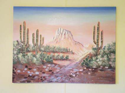 Southwest landscape oil painting