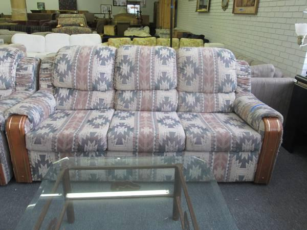 Southwestern Style Sofa And Loveseat   $45