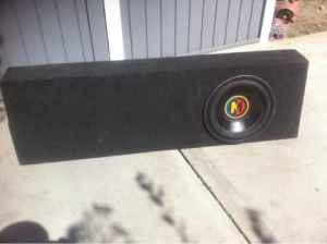 Speaker box 12 inch for single cab trucks chevy or gmc