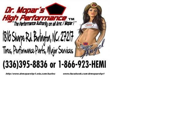 Specializing on Dodge/Chrysler/Plymouth/Jeep/Amc/Mopar!!!