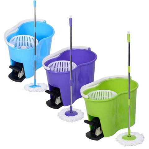 Spin Mop Microfiber Spining W/Bucket 2 Heads
