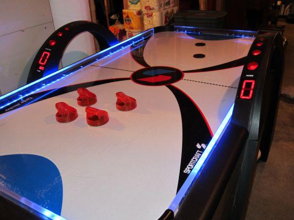 Sportcraft Xtreme Turbo Air Hockey Table With Lights And Sound - Sportcraft turbo air hockey table