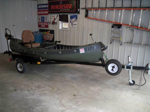 Sportspal canoe 12',custom trolling motor, trailer and more