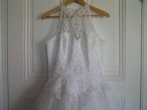 St tropez davids bridal formal wedding dress gown white sz for St tropez wedding dress