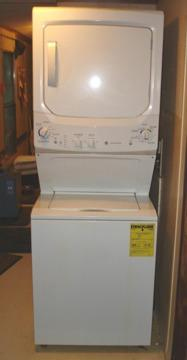 Stacked GE Apartment Size Washer & Dryer for Sale in Little ...
