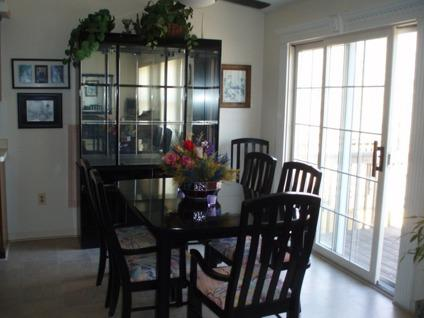 glass dining room tables for sale | stain glass floral vase on dining room table, dining room ...