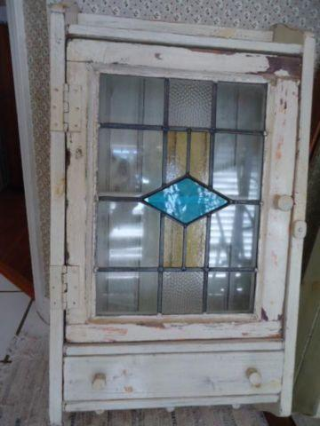 Exceptionnel Stained Glass Cabinet   Made From Old Stained Glass