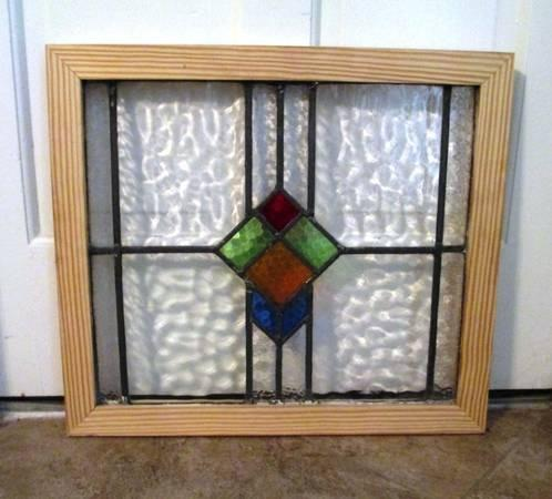 STAINED GLASS WINDOWS Imported from ENGLAND Framed - $100