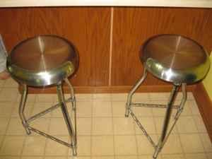 Stainless Steel Chrome Bar Stools Constantine Three