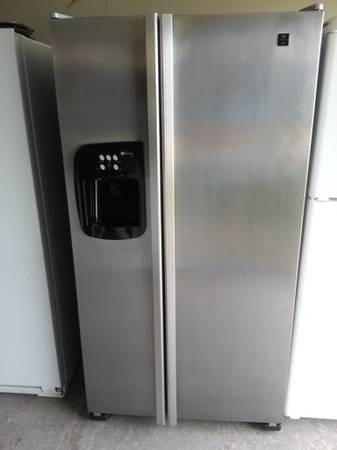 stainless steel maytag performa side by side refrigerator for sale in buda texas classified. Black Bedroom Furniture Sets. Home Design Ideas