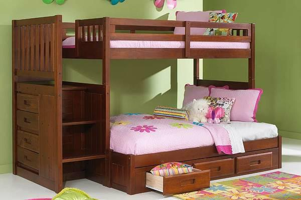 Stair Stepper Bunk Beds Solid Wood For Sale In Tampa Florida