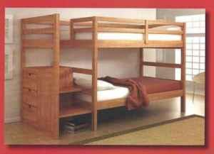 STAIRWAY Bunk Bed With 3 Deep Drawers   $499 (Nob Hill