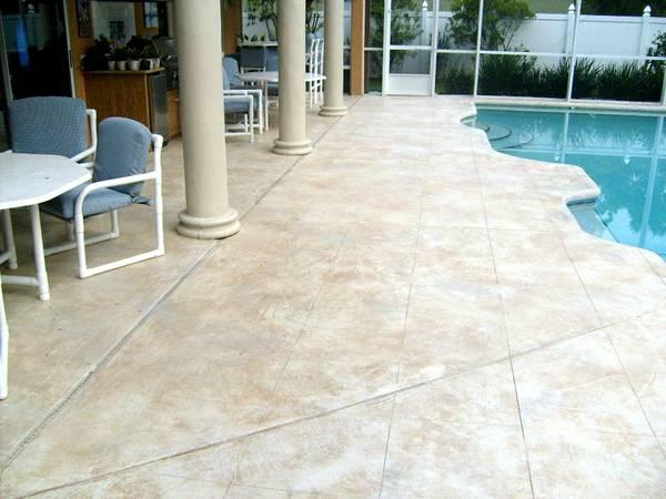 Stamped concrete restoration in Ocala, Florida Classified