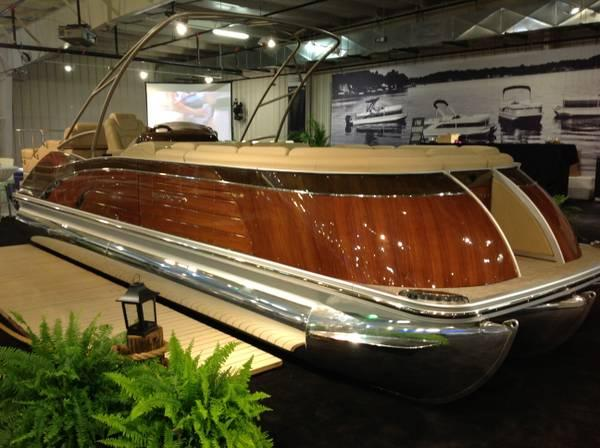 Stancraft Wood Boats And Bennington Pontoons Teamed Up For This 1