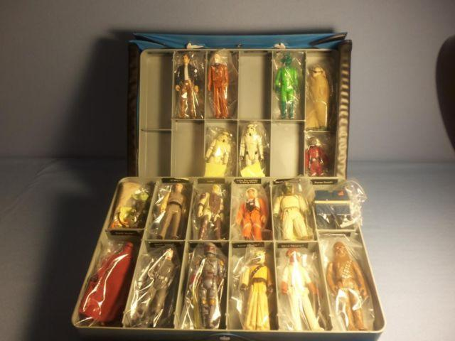 Star Wars Vintage Action Figures Set with Vintage Case