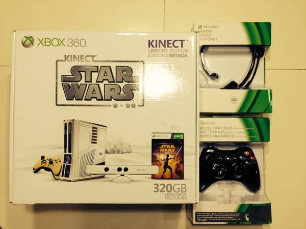 Star Wars Xbox 360 Kinect--320 GB Bundle With Games -