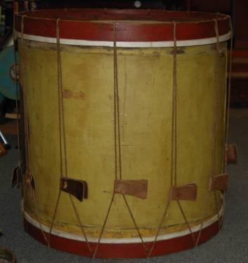 State Militia Drum and Folk Art ca. 1840s Original