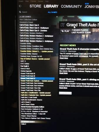 Steam account- Over 30 games! Call of duty, farcry 3 CS:GO, GTA V - $150