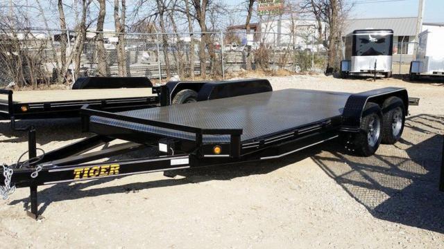 Car Ramps For Sale >> Steel Floor 83 x 20 Heavy Equipment Car Hauler Trailer 5200# for Sale in Tulsa, Oklahoma ...