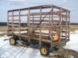 Steel Kicker Bale Wagon - $1400 (Bangor,N.Y. 12966)