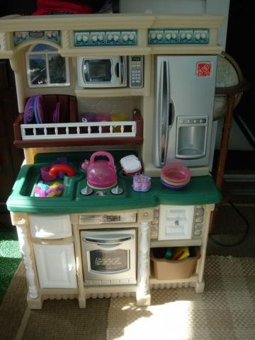Step 2 Custom Kitchen with Little Princess Tea Set