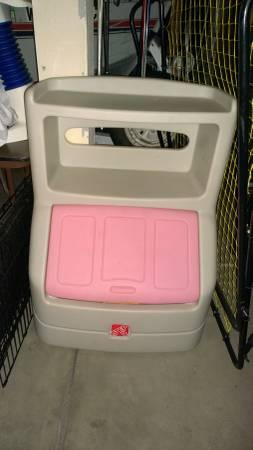STep 2 Large plastic toy box and book shelf all in one - $35