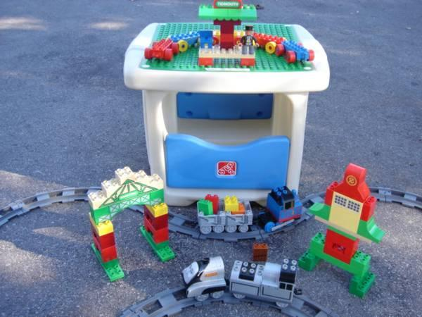 Step 2 LEGO TABLE & Thomas The Train Duplo Lego Set - for Sale in ...