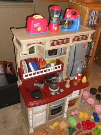 Step 2 Lifestyle Deluxe Play Kitchen  Accessories  Food and More - $125