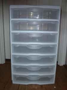Sterilite Scrapbooking Craft 7 Box Storage Cart Molalla