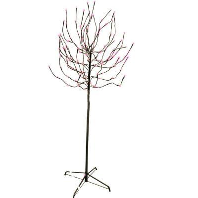 Sterling Inc. 5.5 ft. Budded Artificial Christmas Tree with Pink LED Lights