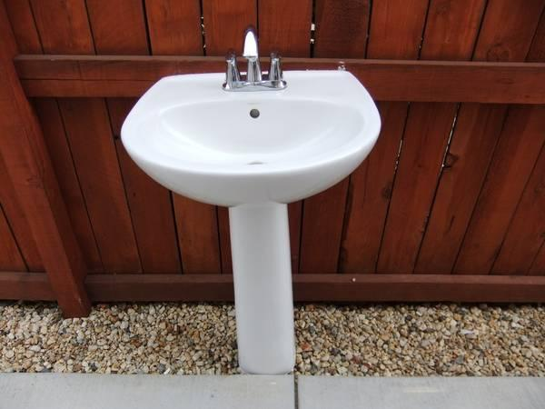 Charming Sterling Pedestal Sink W/Faucet   $100