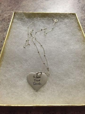Sterling Silver Heart Necklace - Live Your Dash