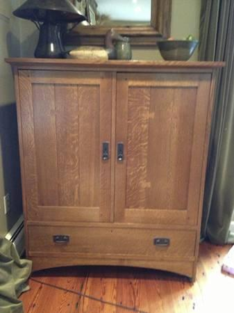 Stickley Oak Tv Cabinet Mint Great Deal For Sale In