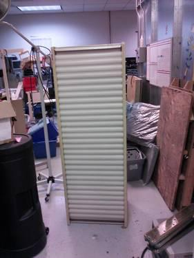 Storage Cabinet With Roll Down Front Cover For Sale In