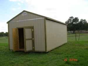 Storage shed for sale 12x24x10 built on site beaumont for Garden sheds built on site
