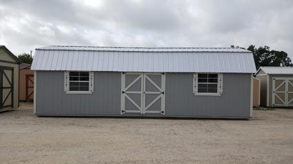 Storage sheds 12'x32' Side Lofted Barn with Gray
