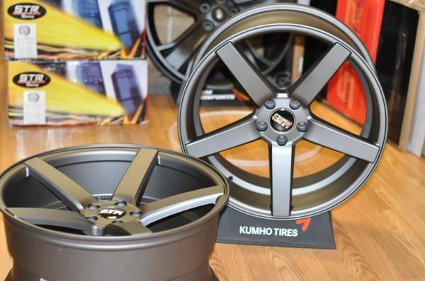 STR 607 Matte graphite finish 20 Concave wheels Infiniti G35 G37S - $1100