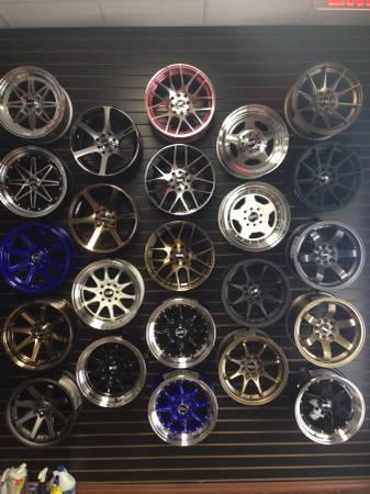 STR Racing wheels fit many car bmw benz vw honda acura nissan infiniti - $1
