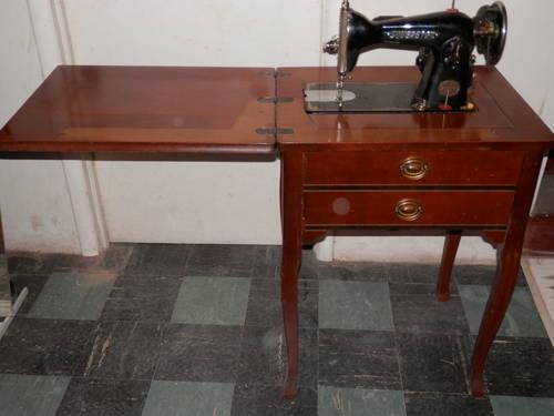 stradivaro sewing cabinet with non working sovereign sewing machine for sale in abington. Black Bedroom Furniture Sets. Home Design Ideas