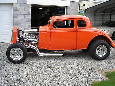 Street rod 1934 Chevy pro street 5 window coupe blown hotrod master
