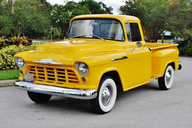 stunning 1956 chevrolet 3600 classic pickup fully restored for sale in lakeland florida. Black Bedroom Furniture Sets. Home Design Ideas