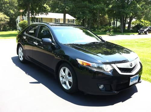 stunning 2009 black acura tsx with tech package 049613 mi for sale in huntington connecticut. Black Bedroom Furniture Sets. Home Design Ideas