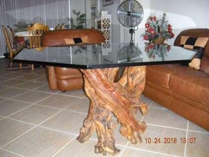 Stunning Driftwood And Glass Table