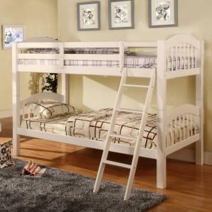 Sturdy Amp Durable Solid Wood Bunk Bed White Or Cherry