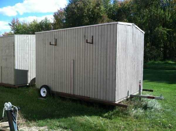 Sturgeon shanty ice fishing shanty for sale in for Ice fishing shelters for sale